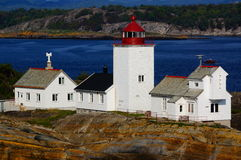 Langesund lighthouse, Norway Royalty Free Stock Images