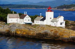 Langesund lighthouse, Norway Royalty Free Stock Photo