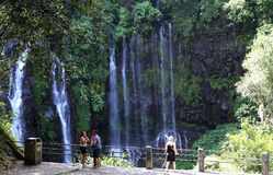 Langevin falls, La Reunion island, Indian Oean Royalty Free Stock Image