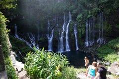 Langevin fällt, La Reunion Island, Inder Oean Stockbild