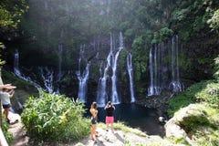 Langevin fällt, La Reunion Island, Inder Oean Stockfotografie