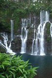 Langevin waterfall at Reunion island. Tropical Langevin waterfall at Reunion island, France Stock Images