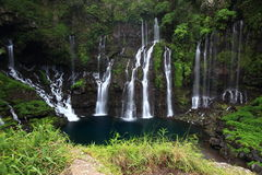 Langevin waterflow. Waterflow in the Reunion island Stock Photos