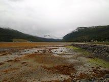 Langfjord-Tal-Gezeiten heraus lizenzfreie stockbilder