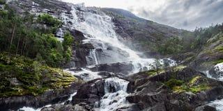 Langfoss, krafjord de Ã…, Noruega Fotografia de Stock Royalty Free