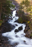 Langfoss waterfall, Norway Royalty Free Stock Photo