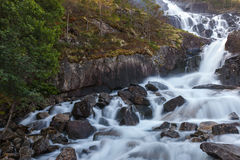Langfoss waterfall, Norway Royalty Free Stock Photography