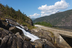 Langfoss waterfall, Norway Royalty Free Stock Image
