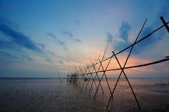 Langgai, another method of fishing. Royalty Free Stock Image