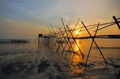 Langgai, another method of fishing. Stock Photos