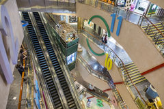 Langham place shopping mall in Hnng Kong. Langham Place is a commercial skyscraper complex and shopping mall completed in 2004 the Mong Kok area of Kowloon, Hong Royalty Free Stock Image