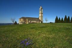 Langhe - Святилище Madonna del Кармин на Prunetto стоковое фото rf