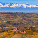 Langhe in autumn. Royalty Free Stock Photos
