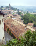 Langhe Hilly Region: viewpoint of  Monforte d'Alba (Cuneo). Color image Stock Images