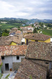 Langhe Hilly Region: viewpoint of  Serralunga d'Alba (Cuneo). Color image Royalty Free Stock Photos