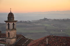 Langhe and Roero region, village of Govone, Piemonte, Italy Stock Photos