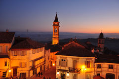 Langhe and Roero region, village of Govone, Piemonte, Italy Stock Images