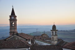 Langhe and Roero region, village of Govone, Piemonte, Italy Stock Image