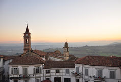 Langhe and Roero region, village of Govone, Piemonte, Italy Royalty Free Stock Photography