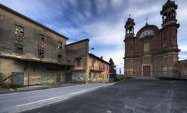 Langhe, Surie Clavesna, городок gosth в Италии стоковое фото rf