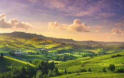 Free Langhe Vineyards View, Barolo And La Morra, Piedmont, Italy Europe Stock Photos - 163780123