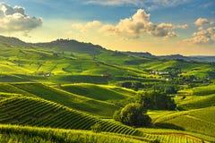 Langhe vineyards view, Barolo and La Morra, Piedmont, Italy Europe stock photos