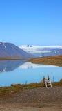 Langjökull glaciärsjö på Island Royaltyfri Foto