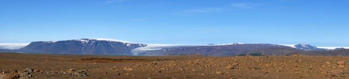 Langjökull glacier panorama on Iceland Royalty Free Stock Photo