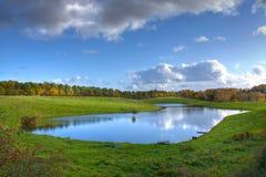 Langkæret See, Dänemark Stockbild