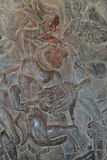 Langka battle, carved  bas relief from Ramayana Royalty Free Stock Photography