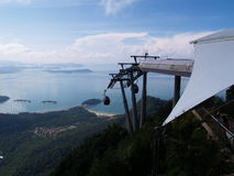 Langkawi Cable Car. Cable car station in Langkawi Island, Malaysia Royalty Free Stock Images