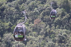 Langkawi Cable Car. The Langkawi Cable Car, also known as Langkawi SkyCab, is one of the major attractions in Langkawi Island, Kedah, Malaysia Royalty Free Stock Photos
