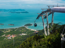 LangKawi Cable Car and Islands Royalty Free Stock Image