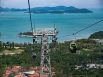 LangKawi Cable Car and Islands Stock Photos