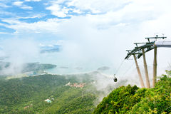Langkawi cable Car. Popular touristic attraction with great views over Langkawi Island, Malaysia stock photos