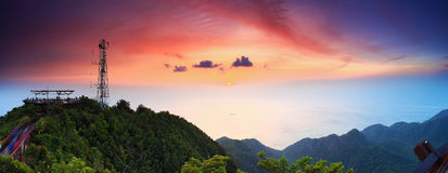 Langkawi Cable Car Sunset Royalty Free Stock Photography
