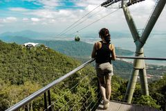 Langkawi Cable Car to Sky Bridge, Malaysia. Langkawi cable car offers some spectacular views and is one of the top things to do in Langkawi royalty free stock images