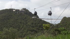 Langkawi Cable Cars. On this beautiful island in the Andaman sea outside Malaysia stock video footage