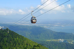 Langkawi hills cable car Royalty Free Stock Photo