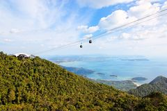 Langkawi hills cable car, Malaysia Royalty Free Stock Photography
