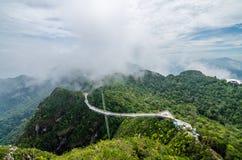 Langkawi himmelbro Arkivfoto