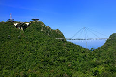 Langkawi himmelbro, Langkawi ö, Malaysia arkivbilder