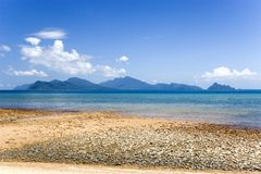 Langkawi Island Beach. Beach at Langkawi Island, Malaysia, with crystal clear blue waters and many more islands in the background Stock Photography