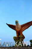 Langkawi Island famous eagle statue Stock Photography