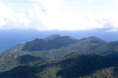 Langkawi Island Mountain Range. The Langkawi Island mountain range. It houses the oldest tropical rainforest in the world Royalty Free Stock Images