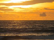 Orange Sunset in a Beach. Langkawi Island When Sunset is Coming stock photos