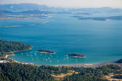Langkawi landscape with islands, top view Stock Photo