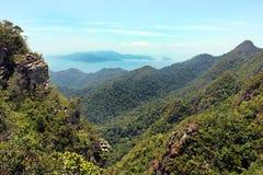 Langkawi landscape from the Sky Bridge. stock image