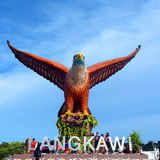 Eagle Square Langkawi , Big Eagle Statue, Malaysia Stock Photo