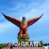 Eagle Square Langkawi , Big Eagle Statue, Malaysia Stock Photo